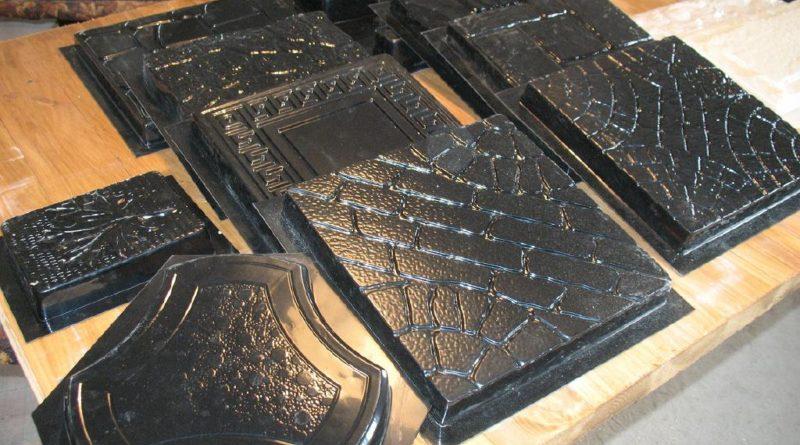 форма для тротуарной плитки из силикона