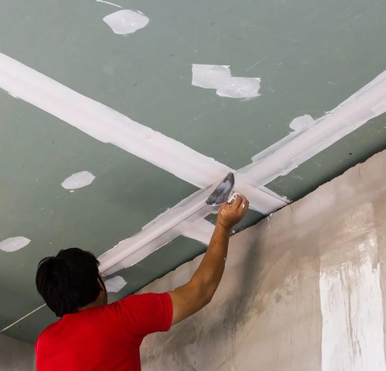 Обработка гипсокартоном потолка