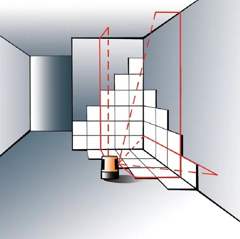 Разметка помещения с помощью дальномера