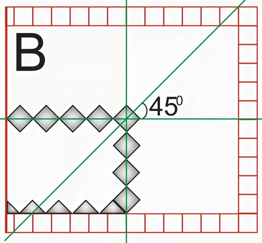 Разметка пола для плитки