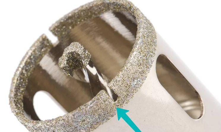 сверло для плитки с алмазным напылением